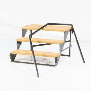"4-STEP 32""T X 36""W WOOD W/HANDRAIL (Each)"